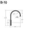 """B-10, 8"""" Gooseneck Arm (1/2"""" NPT) Thumbnail"""