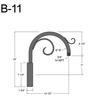 """B-11, 13"""" Gooseneck Arm (3/4"""" NPT) Thumbnail"""