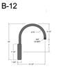 """B-12, 13"""" Gooseneck Arm (3/4"""" NPT) Thumbnail"""