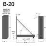 """B-20, 26"""" Arm (3/4"""" NPT) Thumbnail"""