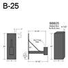 """B-25, 14"""" Arm (3/4"""" NPT) Thumbnail"""
