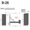 """B-26, 17"""" Arm (3/4"""" NPT) Thumbnail"""