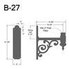 """B-27, 18"""" Arm (3/4"""" NPT) Thumbnail"""