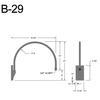 """B-29, 19"""" Gooseneck Arm (3/4"""" NPT) Thumbnail"""