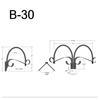 """B-30, 33"""" Gooseneck Arm (3/4"""" NPT) Thumbnail"""