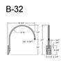 """B-32, 19"""" Gooseneck Arm (3/4"""" NPT) Thumbnail"""