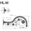 """HL-M, 19"""" Gooseneck Arm (1/2"""" NPT) Thumbnail"""