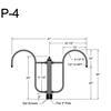 "P-4, 41"" Post Arm (1/2"" NPT) Thumbnail"