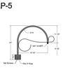 "P-5, 18"" Post Arm (3/4"" NPT) Thumbnail"