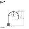 "P-7, 13"" Post Arm (1/2"" NPT) Thumbnail"
