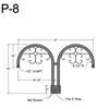 "P-8, 31"" Post Arm (1/2"" NPT) Thumbnail"
