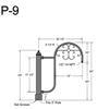 "P-9, 20"" Post Arm (1/2"" NPT) Thumbnail"