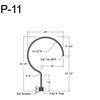 "P-11,29"" Post Arm (3/4"" NPT) Thumbnail"