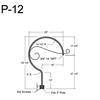 "P-12, 29"" Post Arm (3/4"" NPT) Thumbnail"