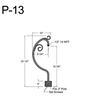 "P-13, 10"" Post Arm (1/2"" NPT) Thumbnail"