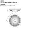 Flush Mount Canopy for Flat Ceilings Thumbnail