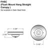 Flush Mount Swivel Canopy for Sloped/Vaulted Ceilings Thumbnail