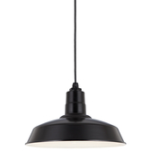 """16"""" RLM shade in 91 Black finish with CB8 mounting"""