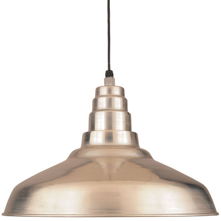 """27"""" shade in 102 Raw Aluminum finish with CB8 mounting"""