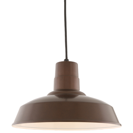"""14"""" shade in 100 Dark Brown finish with CB8 mounting"""