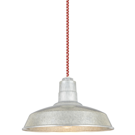 """16"""" shade in 96 Galvanized finish with CCRW8 mounting"""