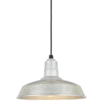 """16"""" shade in 96 Galvanized finish with CB8 mounting"""