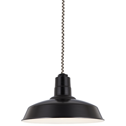 """16"""" shade in 91 Black finish with CCBW8 mounting"""
