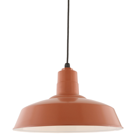 """14"""" shade in 113 painted copper finish with  CB8 mounting"""