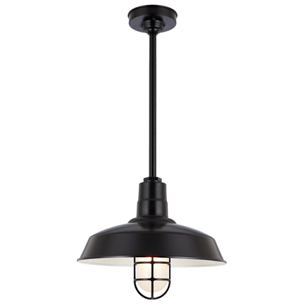 """16"""" RLM shade with 20"""" ST2 and HSC canopy in 91 Black finish"""