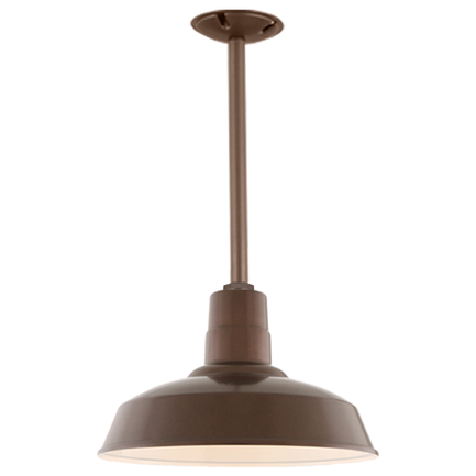 """14"""" shade with 18"""" ST2 and SMC canopy in 100 Dark Brown finish"""
