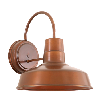 """12"""" RLM shade wall light in 114 painted rosewood finish"""