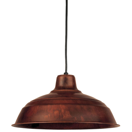 """16"""" RLM shade in 77 rosewood finish with CB8 mounting"""