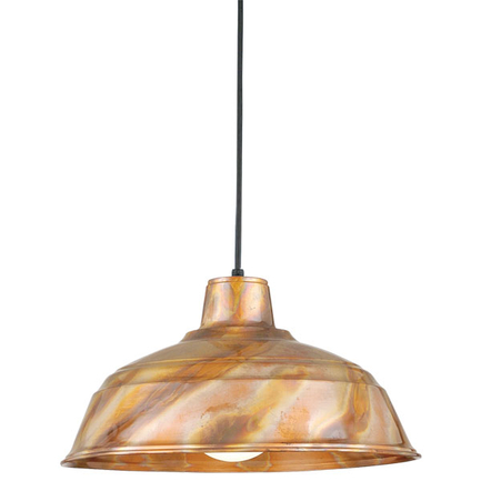 """15"""" RLM shade in burnt copper finish with CB8 mounting"""