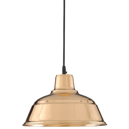 """11"""" RLM shade in 44 polished copper finish with CB8 mounting"""
