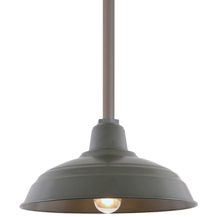 """15"""" RLM shade with ST3 in 117 Painted Steel finish"""