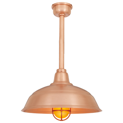 """15"""" RLM shade with ST3 in 48 raw copper finish"""