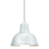 Mini Curved Warehouse Shade Stem-Mount Ceiling Light