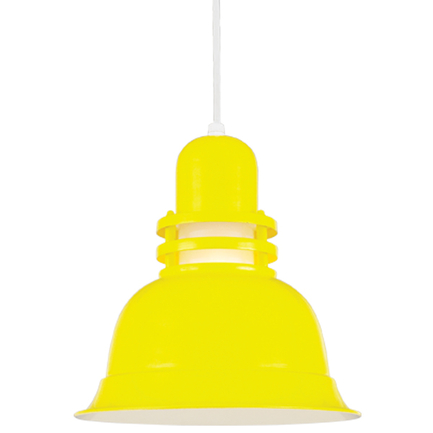 """12"""" shade with frost glass in 92 yellow, 8 ft, white cord with 93 white canopy"""