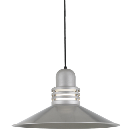 """24"""" shade with frost glass in 118 painted aluminum finish, 8 ft. black cord with canopy in 91 black"""