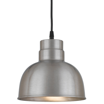 """8"""" shade in 11 Satin Steel finish with CB8 mounting"""