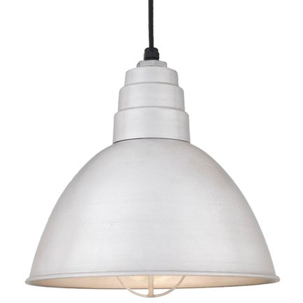 """16"""" shade in 101 Brushed Aluminum finish with CGU accessory and clear glass, CB8 mounting"""