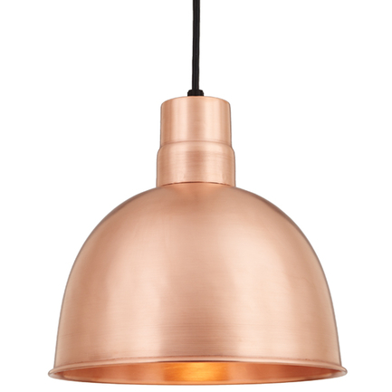 """14"""" RLM shade in 48 Raw Copper finish with CB8 mounting"""