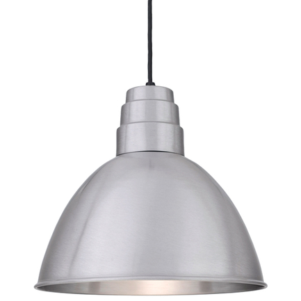 """16"""" shade in 137 Satin Aluminum finish with CB8 mounting"""