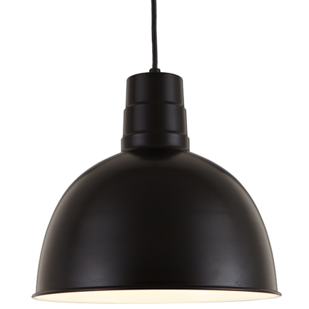 """14"""" shade in 91 Black finish with CB8 mounting"""