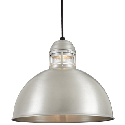 """18"""" RLM shade with clear glass in 118 Painted Aluminum finish with CB8 mounting"""