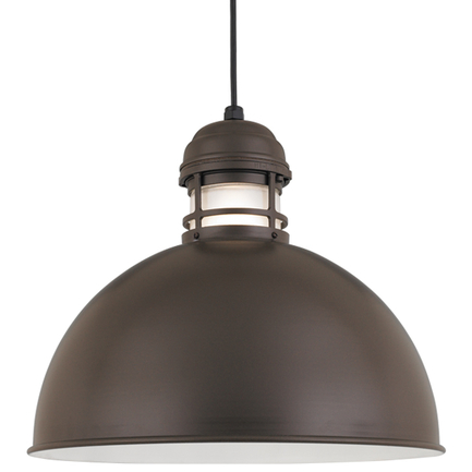 """18"""" RLM shade with frost glass in 119 Bronze finish with CB8 mounting"""