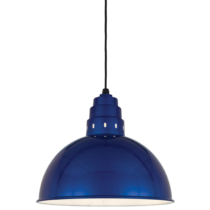 """18"""" shade in 123 Trans Blue finish with CB8 mounting"""