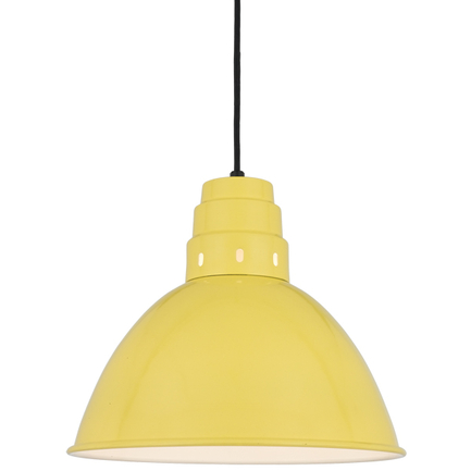 """16"""" shade in 92 Yellow finish with CB8 mounting"""