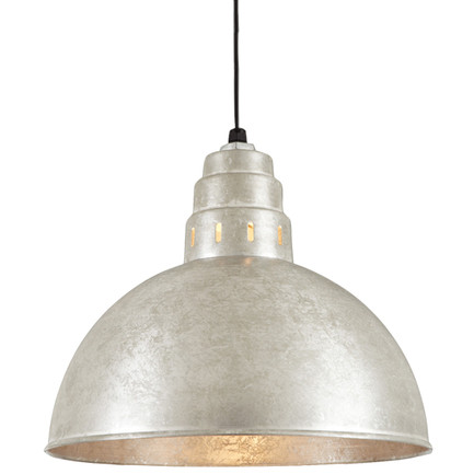 """18"""" shade in 96 Galvanized finish with CB8 mounting"""