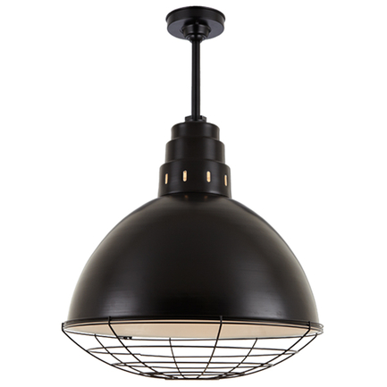 """24"""" shade with 10"""" ST2 and HSC in 91 Black finish"""